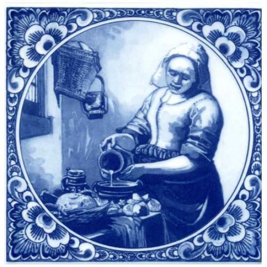 Delfts blauw tegel melkmeisje vermeer