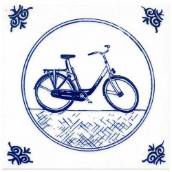 DELFT BLUE TILE MODERN BICYCLE