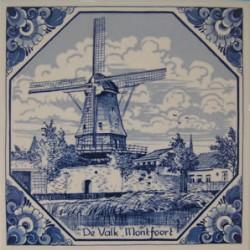 TILE DELFT BLUE WINDMILL VALK MONTFOORT