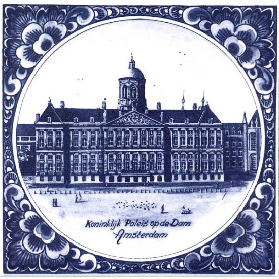DELFT BLUE TILE ROYAL PALACE OF AMSTERDAM