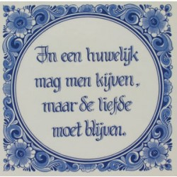 TILE DELFT BLUE ADAGE MARRIAGE 15 x 15 CM
