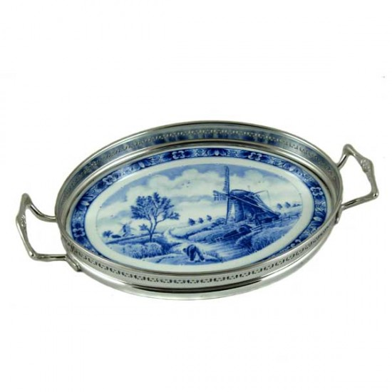 TRAY DELFT BLUE MILL SMALL
