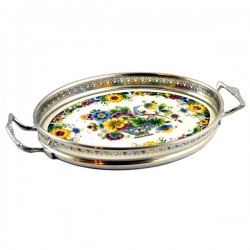 TRAY POLYCHROME FLOWER BASKET SMALL COLOR