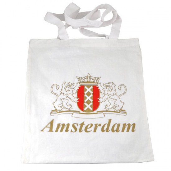 Carrying bag cotton amsterdam white