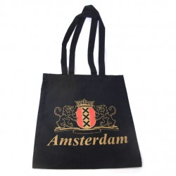 CARRYING BAG COTTON AMSTERDAM BLACK