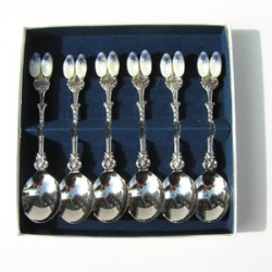 CASE TEASPOONS 2 CLOGGIES 6 pc.