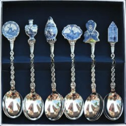 CASE TEASPOONS DELFT BLUE ASSORTIE 6 pc.