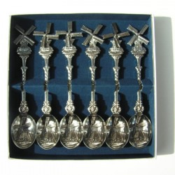 CASE TEASPOONS WINDMILL RATATING WINGS 6 PCS