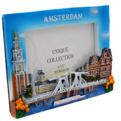 PICTURE FRAME AMSTERDAM DRAWBRIDGE CANALS 3D