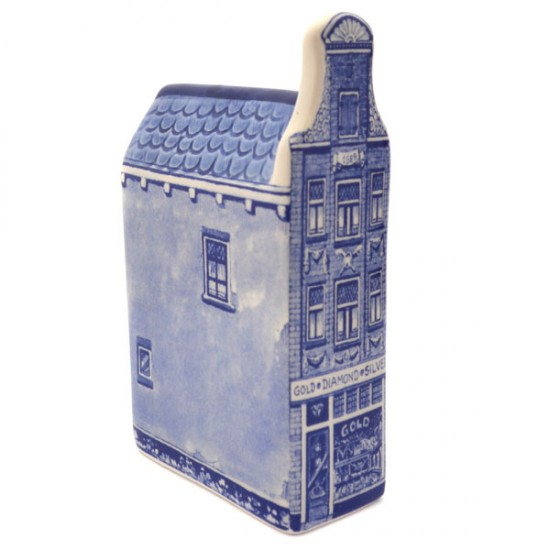 Grachtenhuisje delfts blauw juwelier