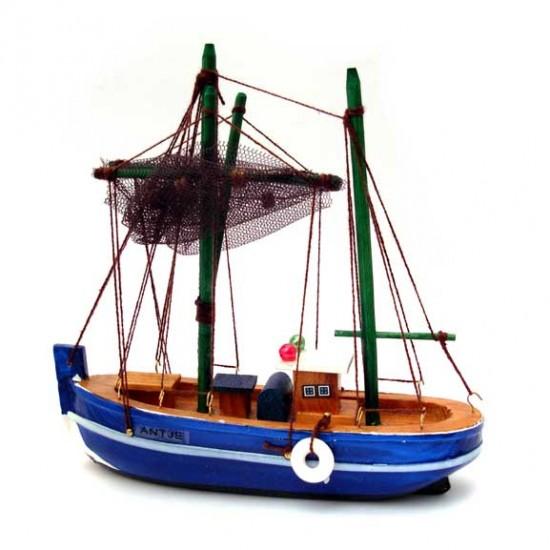 Hollandse vissersboot antje blauw