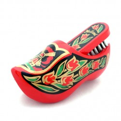 WOODEN SHOE BRUSH RED GOLD-COLORD
