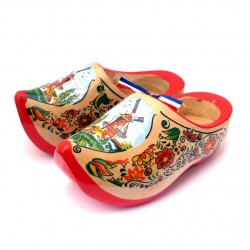 WOODEN SHOES WINDMILL RED SOLE 14 CM