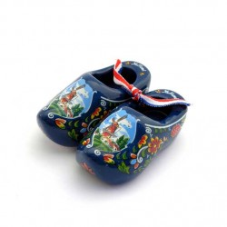 WOODEN SHOES HOLLAND BLUE 6 CM