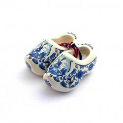 WOODEN SHOES HOLLAND DELFT BLUE 6 CM