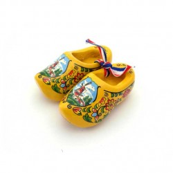 WOODEN SHOES HOLLAND YELLOW 6 CM