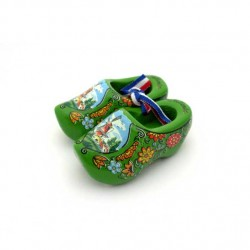 WOODEN SHOES HOLLAND GREEN 6 CM