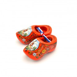 WOODEN CLOGGIE HOLLAND ORANGE 6 CM