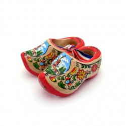 WOODEN SHOES HOLLAND RED SOLE 6 CM