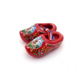 WOODEN SHOES HOLLAND RED 6 CM