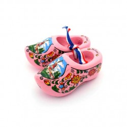 WOODEN SHOES HOLLAND PINK 6 CM