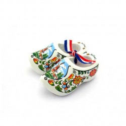 WOODEN SHOES HOLLAND WHITE 6 CM