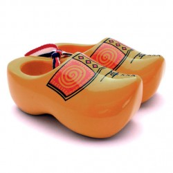 SOUVENIR WOODEN SHOES FARMER 10 CM