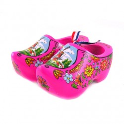 WOODEN SHOE BRIGHT PINK 10 CM
