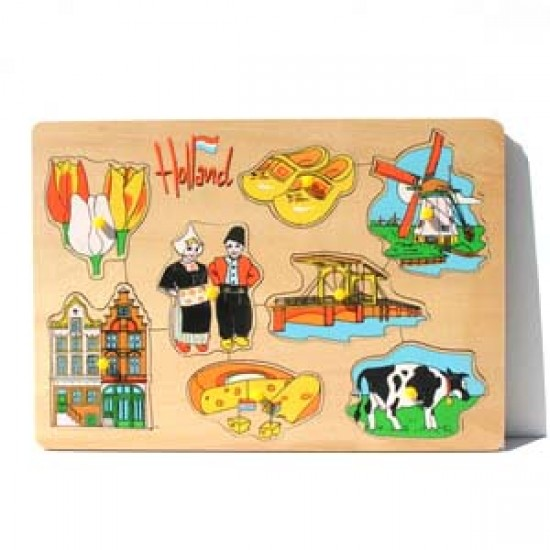 Holz puzzel holland 30 x 21 cm