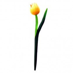 WOODEN TULIP YELLOW 28 CM