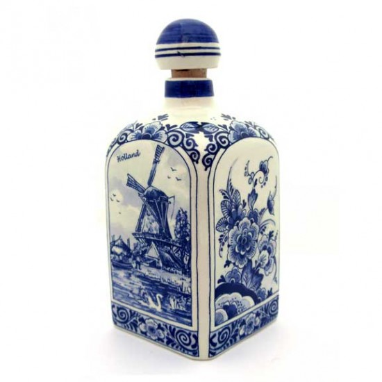 DELFT BLUE GIN BOTTLE SQUARE 0.5 L 18 CM