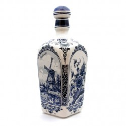 DELFT BLUE square gin bottle 23 CM