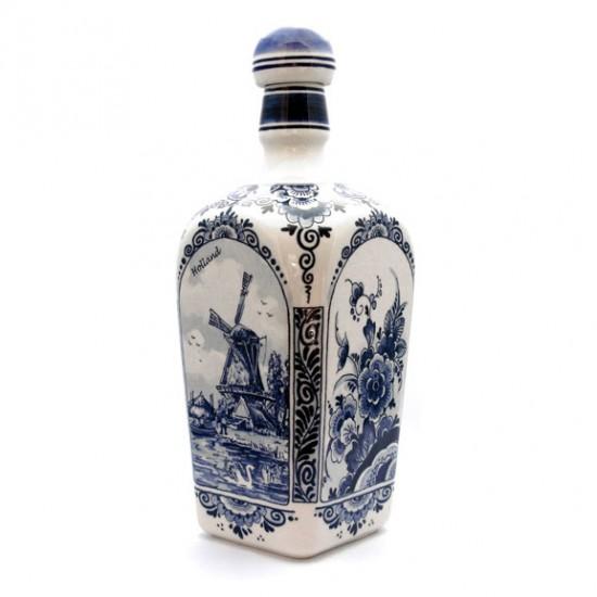 Delft blue square gin bottle 23 cm