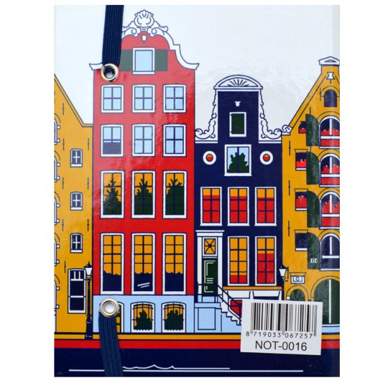 NOTEBOOK AMSTERDAM CANAL HOUSES COLOR A6
