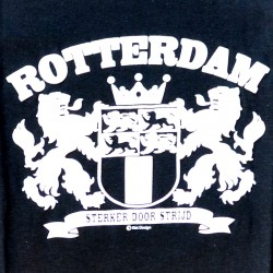 T-SHIRT ROTTERDAM CITY LOGO STRONGER BLACK