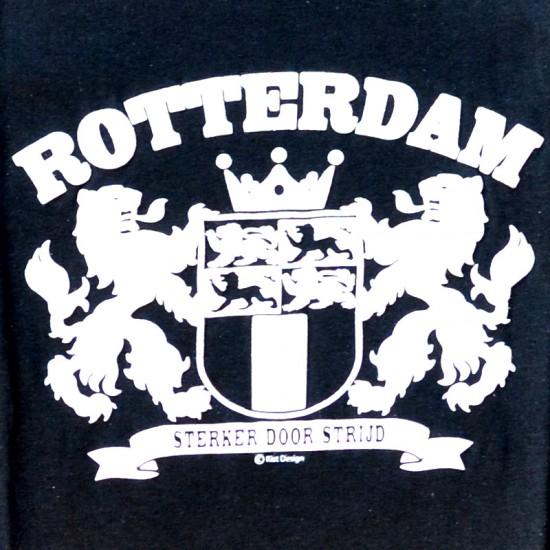 T-SHIRT ROTTERDAM CITY LOGO STRONGER BLACK