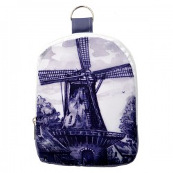 FOLDABLE ECO BAG HOLLAND DELFT BLUE WINDMILL
