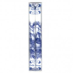 CANDLES DELFT BLUE MADE IN HOLLAND