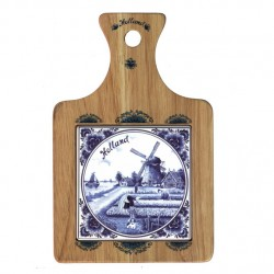 CHEESE BOARD DELFT BLUE TILE AND DECORATION 22 x 14.5 CM