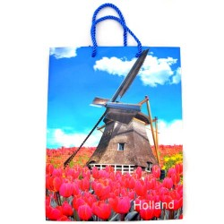 GIFT BAG 3D WINDMILL TULIPS HOLLAND