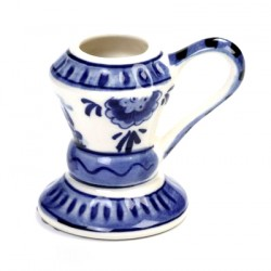 CANDLE HOLDER STANDING ROUND DELFT BLUE