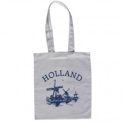 KATOENEN DRAAGTAS HOLLAND WIT