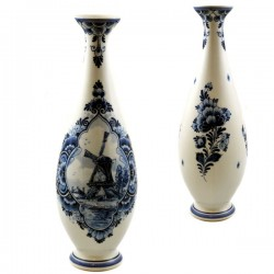 CONICAL VASE DELFT BLUE WINDMILL