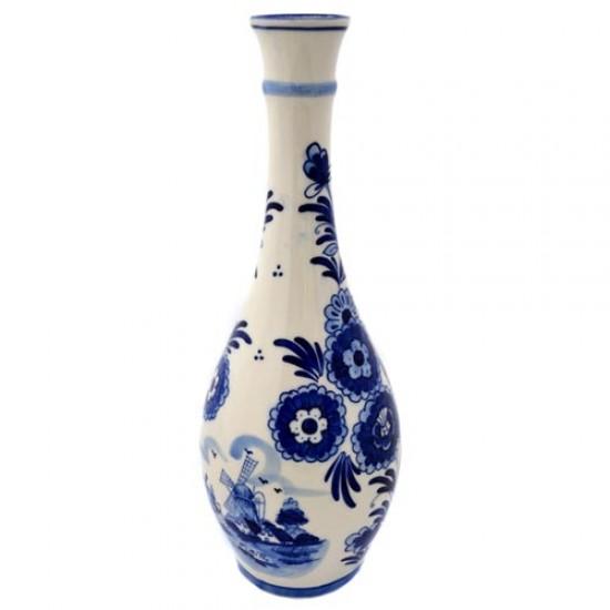 Cone vase delft blue tulip flower 30 cm