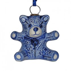 CHRISTMAS DECORATION BEAR DELFT BLUE