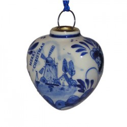 DELFT BLUE THICK CHRISTMAS HEART