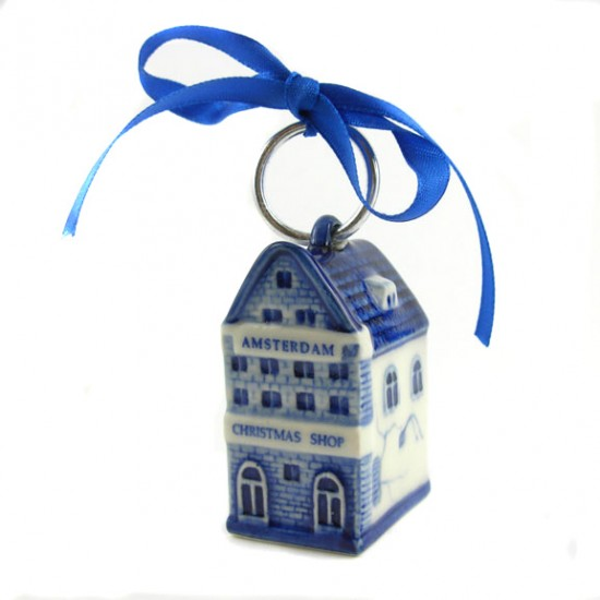 CHRISTMAS SHOP AMSTERDAM DELFTER BLAU DECORATION 5.5 CM