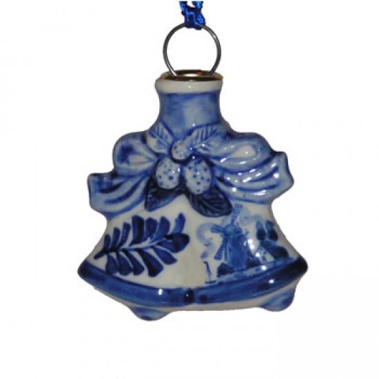 CHRISTMAS DECORATION BELLS DELFT BLUE  DOUBLE