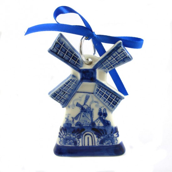 CHRISTMAS ORNAMENT WINDMILL DELFTER BLAU 10 CM