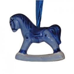 CHRISTMAS HORSE DELFT BLUE